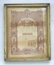 1905 antique CONFIRMATION CERTIFICATE GERMAN lancaster pa LINDERMAN ERWN... - $67.95