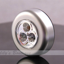 Mini 3 LED Emergency SOS Sticker Press Lamp Light Torch Car Home Camp Su... - $1.52