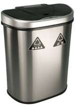 Stainless Steel Touchless Trash Can 18.5 Gallon Motion Sensor Lid Double... - $106.98