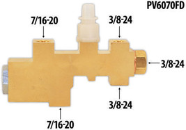 1960-70 Ford Fairlane, Galaxie, Proportioning Valve For  Disc Drum Applications image 2