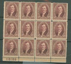 1929 Lt Col David du Bose Gaillard Block of 12 Canal Zone Stamps Catalog 109 MNH