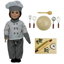 "18"" Doll Clothes & Accessories Fit American Girl Chef Outfit,+11 pc Set ... - $33.65"