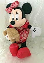 Disney Parks Minnie Mouse Plush Doll Holding Duffs the Disney Bear Hidden Mickey - $37.49
