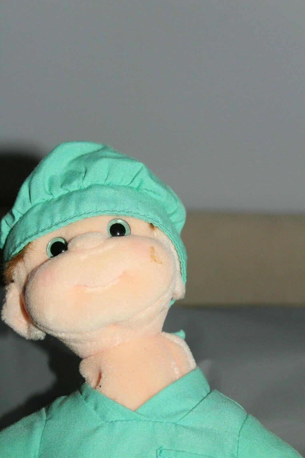 TY Beanie Baby Kid Buzz Boy Stuffed Animal In Scrubs outfit Toy