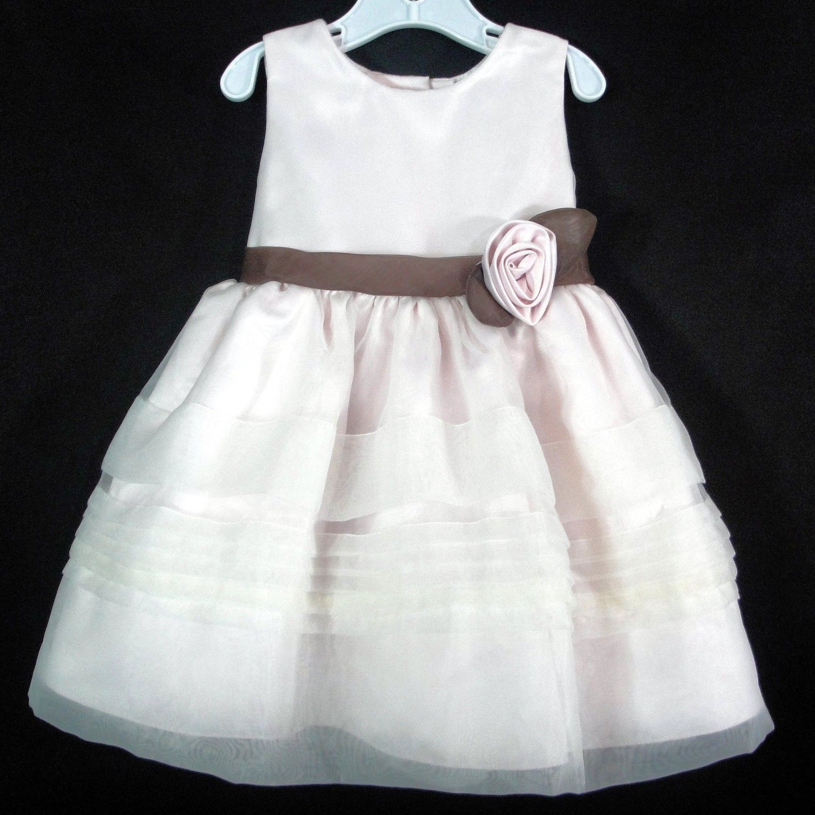 Primary image for Toddler Easter Dress Dressy Occasion Holiday Wedding Pale Pink Rare Editions 18M