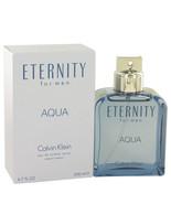 Eternity Aqua by Calvin Klein Eau De Toilette Spray 6.7 oz (Men) - $43.75