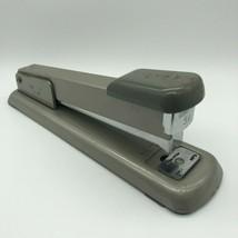 "Vintage Bates 56 Metal 8"" Stapler USA Gray Office Supply Desk Retro Working - $19.00"