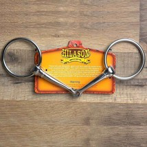 """6"""" Hilason Western Stainless Steel Horse Mouth Snaffle Bit 3"""" Ring U-1001 - $19.75"""