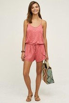 NWT $78 ANTHROPOLOGIE TERRY LOUNGE ROMPER BY SATURDAY SUNDAY PINK - $30.40