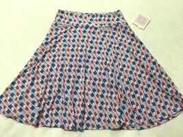 NWT Lularoe Kids Girls 12 Purple Bomb Pop Popsicle Azure Twirl Skirt Ame... - $21.99