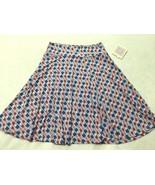 NWT Lularoe Kids Girls 12 Purple Bomb Pop Popsicle Azure Twirl Skirt Americana - $21.99