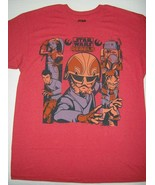 Star Wars Rebels Ghost Crew T-Shirt Red Crew Neck Licensed Shirt X-LARGE... - $9.85