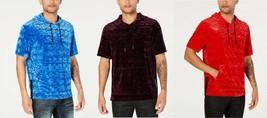 INC International Concepts I.N.C. Men's Short-Sleeve Velvet Hoodie, MSRP... - $18.99