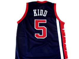 Jason Kidd #5 Team USA New Men Basketball Jersey Navy Blue Any Size image 5