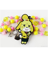 Animal Crossing New Leaf Isabelle Beaded Necklace, Pink, Yellow, Gamer G... - $27.00