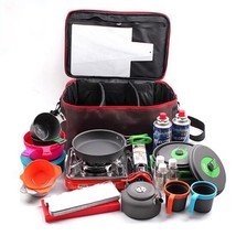 Outdoor Camping Hiking Lunch Basket  Picnic Bag Portable Picnic Bag Food... - $45.46