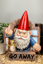 """""""Go Away"""" Rude Gnome And Squirrel At The Window Flipping Off Wall Decor ... - $29.99"""