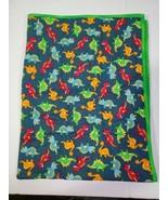 Crib Blanket Quilt Dinosaur Print 48x36 Green Warm Blanket Baby Infant - $34.54