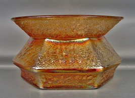 CARNIVAL GLASS - HOCKING / LANCASTER HOBNAIL SODA GOLD Marigold Spittoon... - $43.20