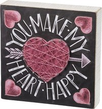 Primitives By Kathy, Chalk Sign - Heart Happy - $16.71