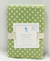 (1) Pottery Barn Kids Green & White  Mini Dots Pillow Sham NEW - $19.79