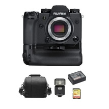Fuji X-H1 + VPB-XH1 Grip + 64GB Sd Card + Bag + NP-W126S Battery + EF-X500 Flash - $1,776.98