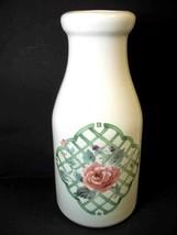 Pfaltzgraff Milk Bottle decanter utensil holder vase GARDEN TRELLIS - $7.80
