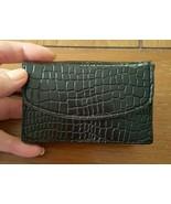 Black Croc Embossed Business Card Case Unisex - $12.99