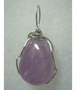 Amethyst Bead Pendant Wire Wrapped .925 Sterling Silver by Jemel  - $34.00