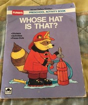 PLAYSKOOL Preschool Activity Book WHOSE HAT IS THAT? Golden Books 1989 o... - $17.39
