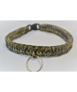 """Camouflage 550 Paracord Dog Collar 13 1/2"""" Black Quick Release Buckle Me... - $18.00"""