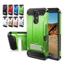 Case For LG Stylo 3 Hard Shockproof Phone Cover Metal Kickstand Card Slot Holder - $15.99