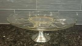 Sterling Silver Pedestal Cake Glass Vintage Stand Duchin Creation Weigte... - $57.60