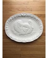 Vintage White Himark/Chesapeake Oval Turkey Serving Platter - $50.00