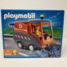NIB Playmobil #4045 Road Sweeper Construction Set Turbo 3000 Truck Cleaning - $42.07