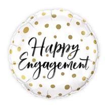 Mylar Foil Helium Party Balloon Wedding Decoration - Gold Polka-Dot Enga... - $6.99
