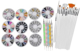 Biutee 3D Nail Art Manicure Wheel Nail Rhinestones Decoration With Metal... - $26.08