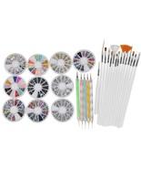Biutee 3D Nail Art Manicure Wheel Nail Rhinestones Decoration With Metal... - $26.08