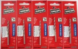 "Vermont American 10209 9/64"" HSS Drill Bit USA Wood Metal PVC 5 Packs - $4.95"