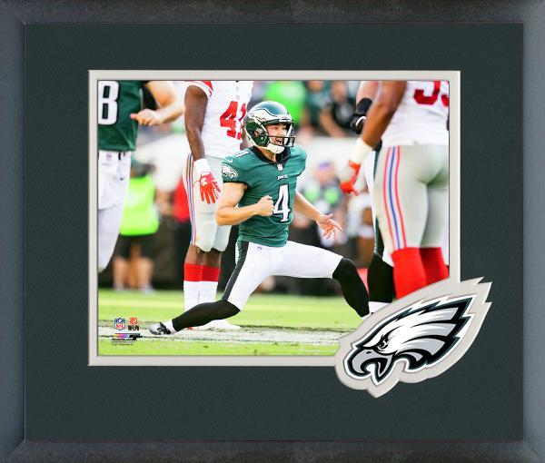 Jake Elliott 2017 Philadelphia Eagles Action-11x14 Team Logo Matted/Framed Photo
