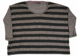Small Women's Luv 4 Anouka Sweater Over-Sized Striped Long Sleeve Pullover NEW