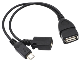 Powered Micro USB OTG Data-Charging Cable - $4.95