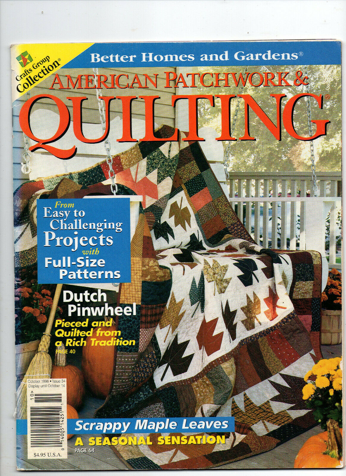 Primary image for Oct 1998/American Patchwork & Quilting/Preowned Craft Magazine
