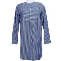 POLO RALPH LAUREN Blue Black Cotton Stripe Relaxed Fit Shirtdress Dress 10 - $76.99
