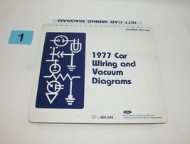1977 Ford Car Wiring and Vacuum Diagrams Service Manual Used #1 - $22.72