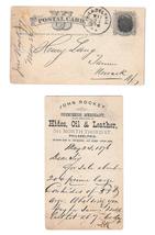UX5 1876 Phila PA Fancy Cork Cancel John Rockey Leather to Henry Lang Newark NJ - $9.95