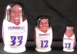 WNBA Babooshkah Nesting Doll Sacramento Monarchs Griffith Campbell Groom... - $19.99