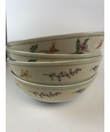 """4 Beautiful Royal Doulton Everyday Fine China """"GINGHAM FLORAL"""" Cereal Bo... - $6.93"""