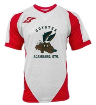 Coyotes de Acambaro Adult Men Soccer Jersey White  by Marval - $29.99