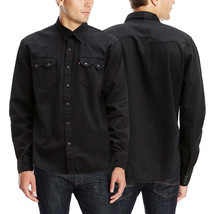 Levi's Classic Casual Denim Black Sawtooth Western Shirt Color Black 658190098